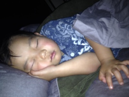 Son sleeping