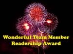 Wonderful Readership Award