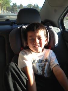 Jett in car
