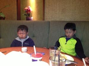 boys meditating