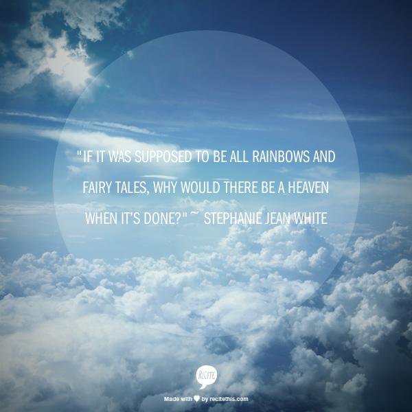 Quote on sky