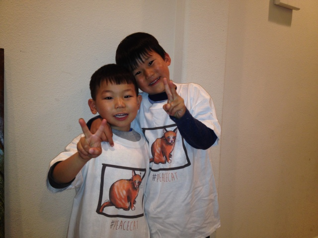Boys with T-shirt